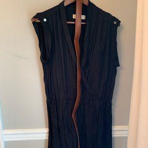 Michael Kors Sleeveless Shirt Dress w/Belt